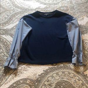 Cotton blouse sweater
